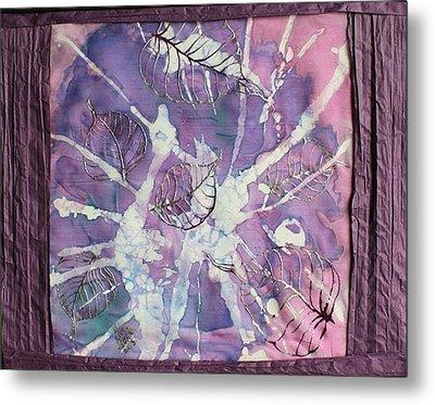 Purple Leaves Metal Print by Nora Padar