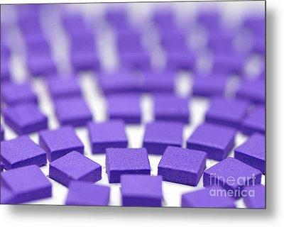 Purple Pattern Metal Print by Amy Cicconi