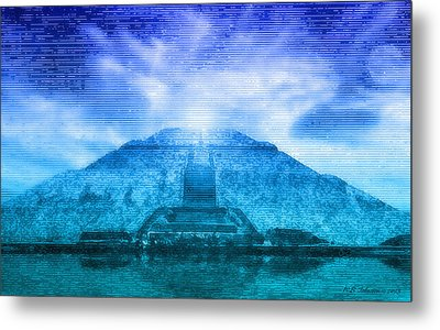 Pyramid Of The Sun Metal Print by WB Johnston