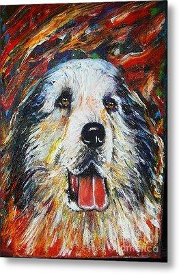 Pyrenean Mountain Dog Metal Print by Anastasis  Anastasi