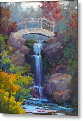 Quarry Hills Waterfall Metal Print by Carol Smith Myer