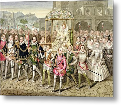 Queen Elizabeth I In Procession Metal Print by Sarah Countess of Essex