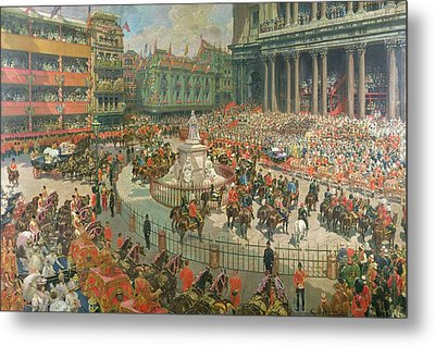 Queen Victorias Diamond Jubilee, 1897 Metal Print by G.S. Amato