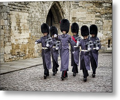 Queens Guard Metal Print by Heather Applegate