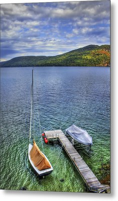Quiet Jetty Metal Print by Evelina Kremsdorf