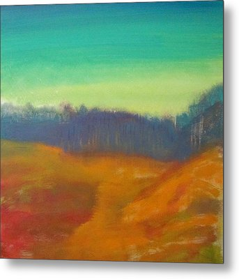 Metal Print featuring the painting Quiet by Keith Thue
