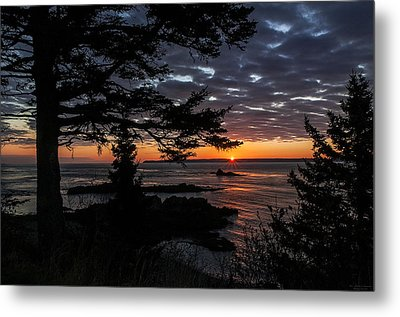 Quoddy Sunrise Metal Print by Marty Saccone