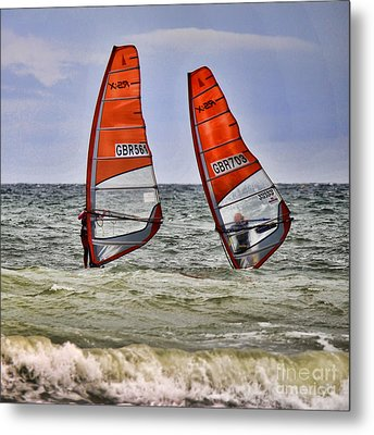 Race To The Beach Metal Print