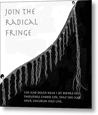 Metal Print featuring the drawing Radical Fringe by Aurora Levins Morales