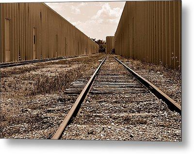 Railroad Metal Print by Andres LaBrada
