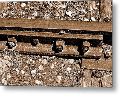 Railroad Track Metal Print by Andres LaBrada