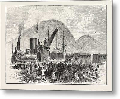 Railway Enterprise In New Zealand, Hoisting The First Truck Metal Print by New Zealand School