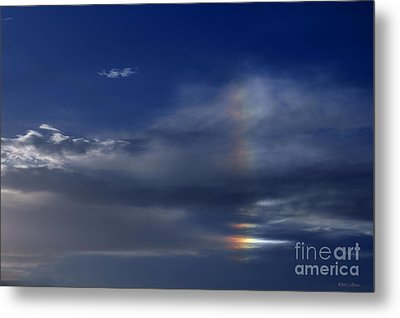 Rainbow In The Clouds Metal Print by Amanda Collins