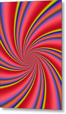 Rainbow Swirls Metal Print by Paul Sale Vern Hoffman