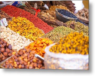 Raisins And Dried Fruit At Local Market Metal Print