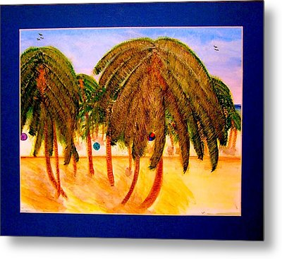 Rasta Palms Metal Print by Larry Farris