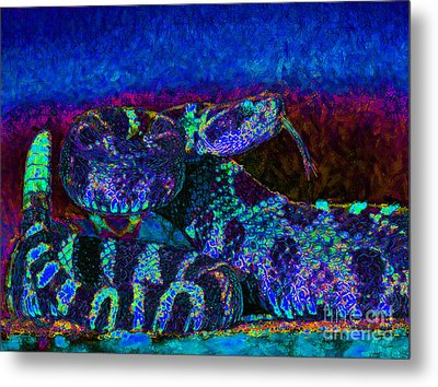 Rattlesnake 20130204m180 Metal Print by Wingsdomain Art and Photography