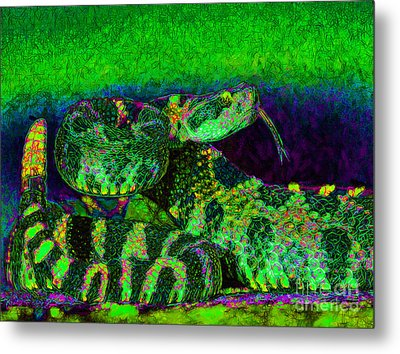 Rattlesnake 20130204p75 Metal Print by Wingsdomain Art and Photography