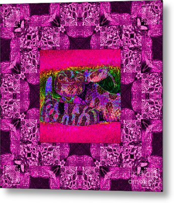 Rattlesnake Abstract Window 20130204m80 Metal Print