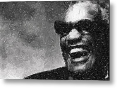 Ray Charles And That Smile Metal Print