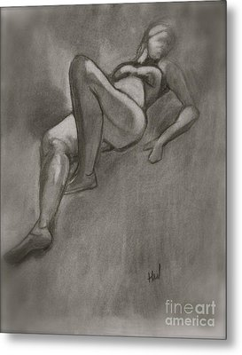 Reclining Woman Metal Print