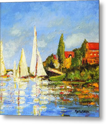 Recreation Of Boating At Argenteuil Metal Print by Marti Green