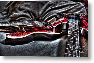 Red And Ready Digital Guitar Art By Steven Langston Metal Print by Steven Lebron Langston