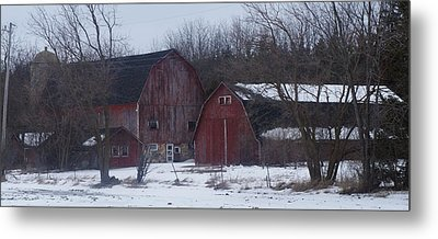 Metal Print featuring the photograph Red Barns by Kristine Bogdanovich