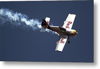Metal Print featuring the photograph Red Bull - Aerobatic Flight by Ramabhadran Thirupattur