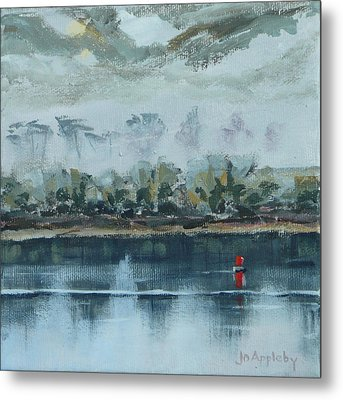 Metal Print featuring the painting Red Buoy by Jo Appleby