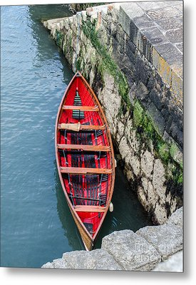 Red Canoe Metal Print by Mary Carol Story