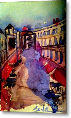 Red Canopies Metal Print by Sandra Stone