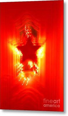 Red Christmas Star Metal Print by Gaspar Avila