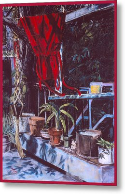 Red Dress Metal Print by Dan Terry