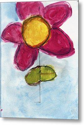 Red Flower Metal Print by Skip Nall