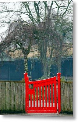 Red Gate Metal Print by Susan Tinsley