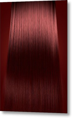 Red Hair Perfect Straight Metal Print