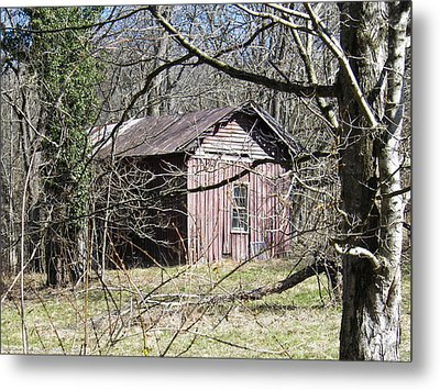 Metal Print featuring the photograph Red House by Nick Kirby