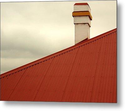 Red Roof Metal Print by Kaleidoscopik Photography