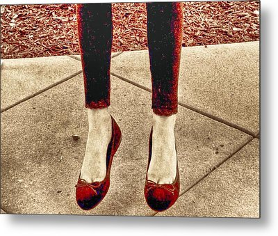 Red Shoes Metal Print by Kristina Deane