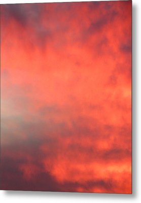 Red Sky At Night Metal Print by Laurel Powell