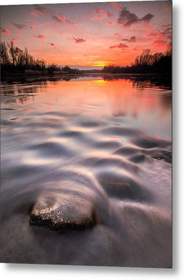 Red Sunset Metal Print by Davorin Mance