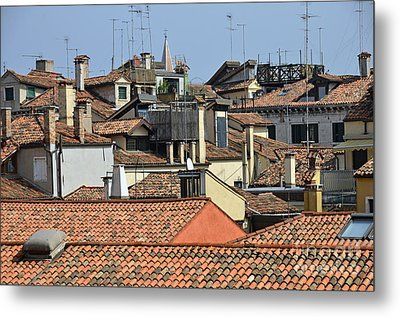 Red Tiled Roofs From Doges Palace Metal Print