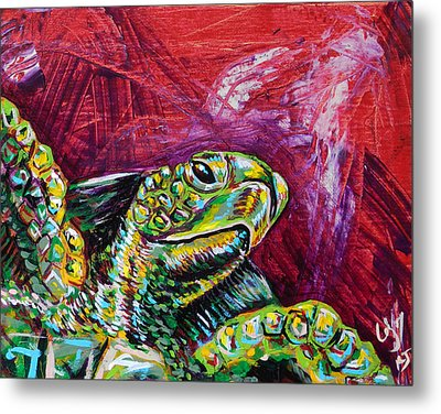 Red Turtle Metal Print by Lovejoy Creations