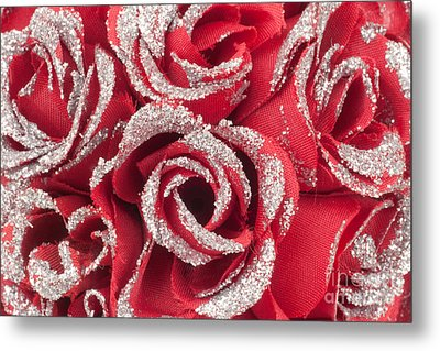 Metal Print featuring the photograph Red Valentines Day Roses by Gunter Nezhoda