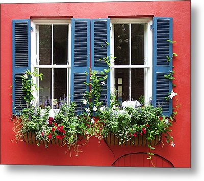 Red Wall Metal Print