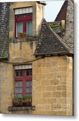 Metal Print featuring the photograph Red Windows by Paul Topp