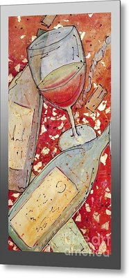 Red Wine I Metal Print by Cynthia Parsons