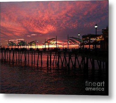 Redondo Beach Pier At Sunset Metal Print