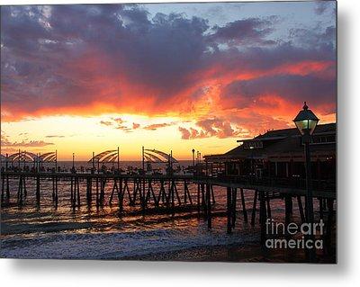 Redondo Pier Sunset Metal Print by Bev Conover